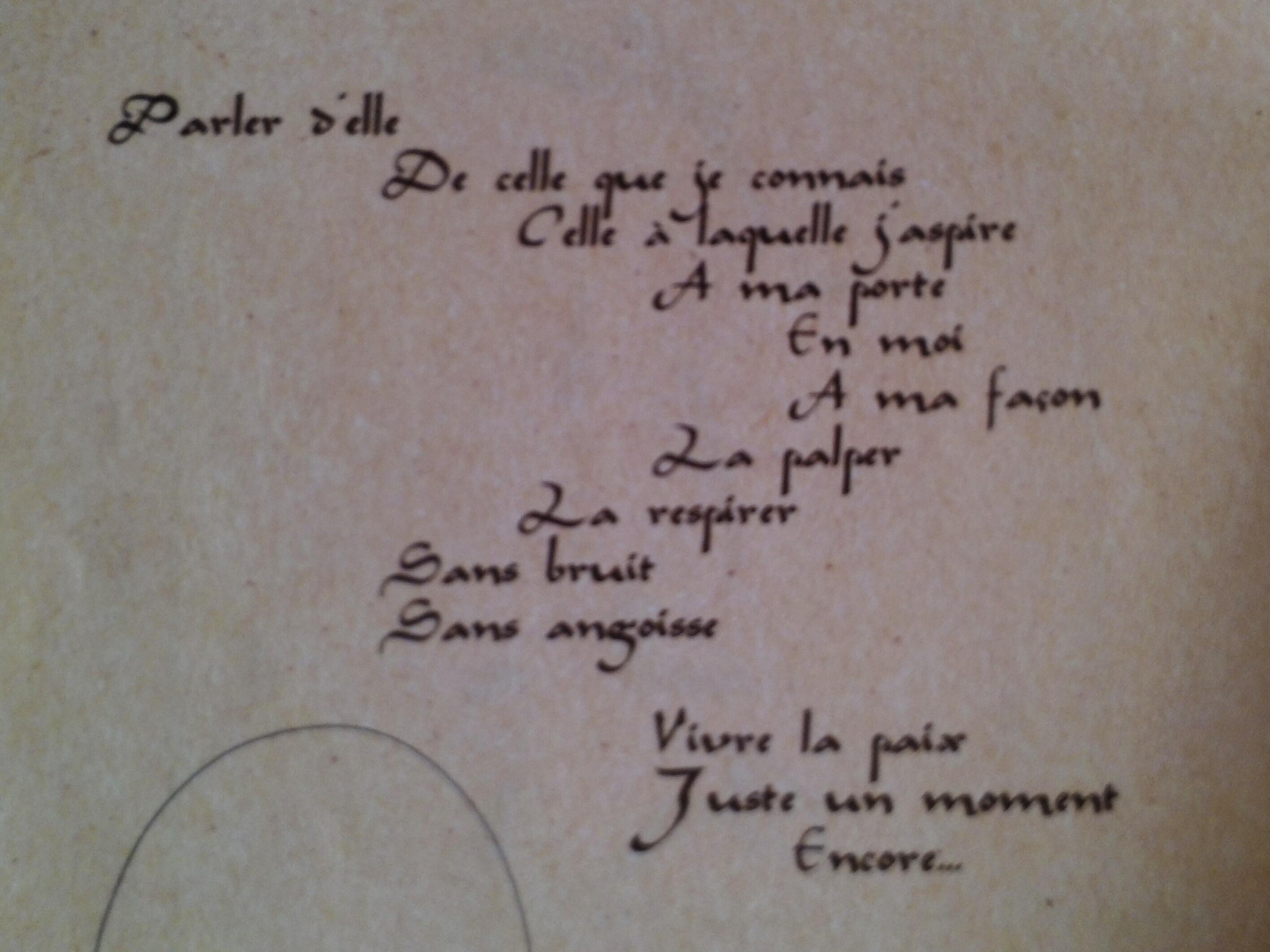 Poeme sur les rencontres inattendues